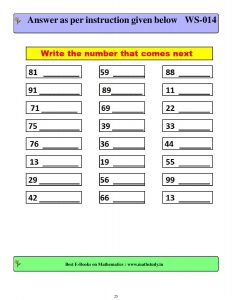 simple addition worksheets for class 1