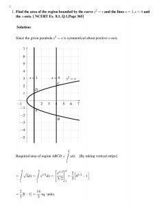 Find the area of the region bounded by the curve ${y^2} = x$ and the lines $x = 1,x = 4$ and the $x$-axis. [ NCERT Ex. 8.1, Q.1,Page 365]