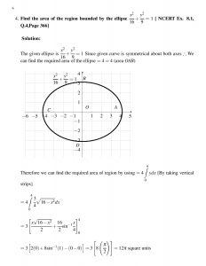 Find the area of the region bounded by the ellipse , 9x^2+16y^2=144 [ NCERT Ex. 8.1, Q.4,Page 366]