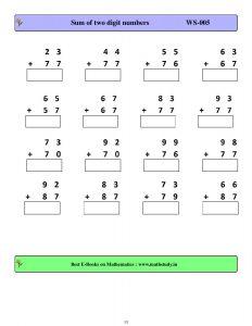download cbse class 2 maths class test worksheets