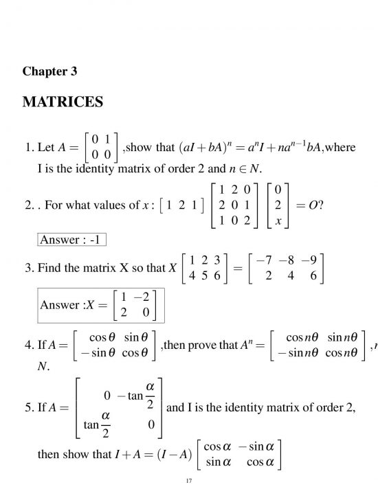 HOTS & IMPORTANT QUESTIONS MATHEMATICS CLASS 12 CBSE