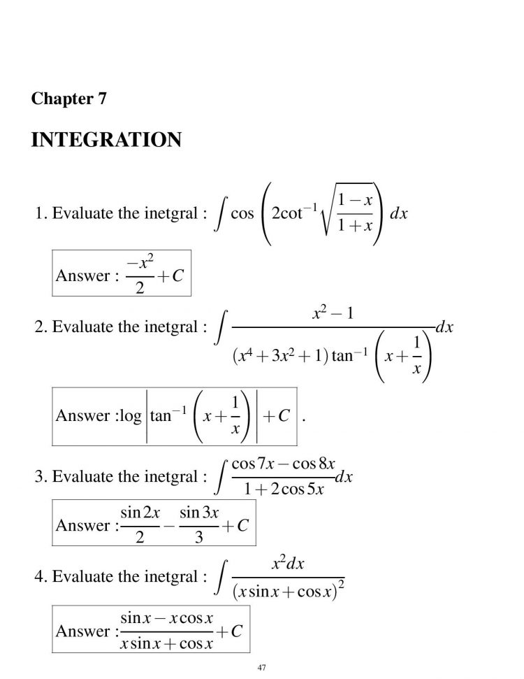 class 12 hots and important questions mathematics