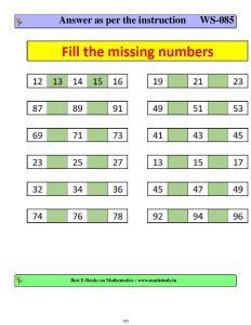 cbse class 1 maths pattern worksheets