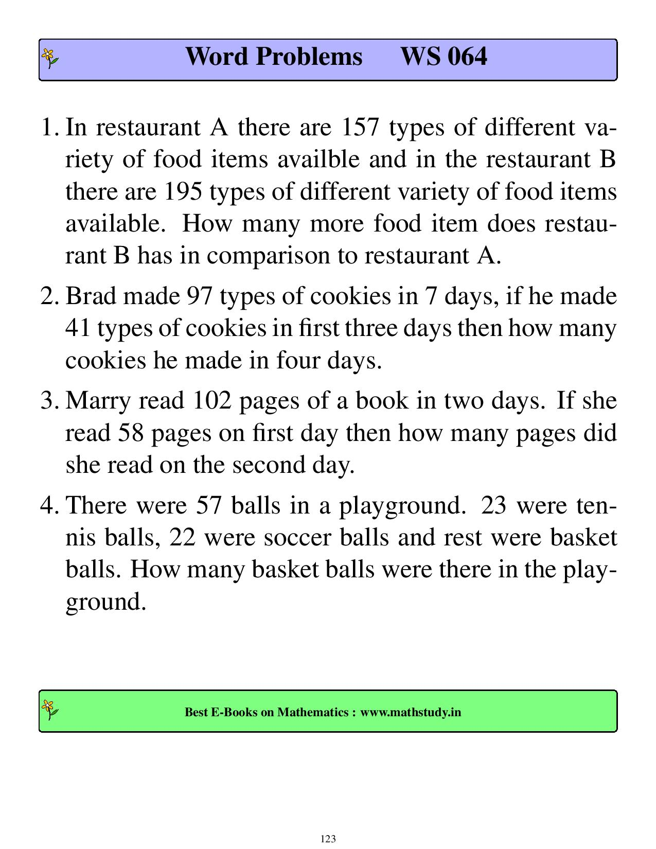 2nd grade addition word problems