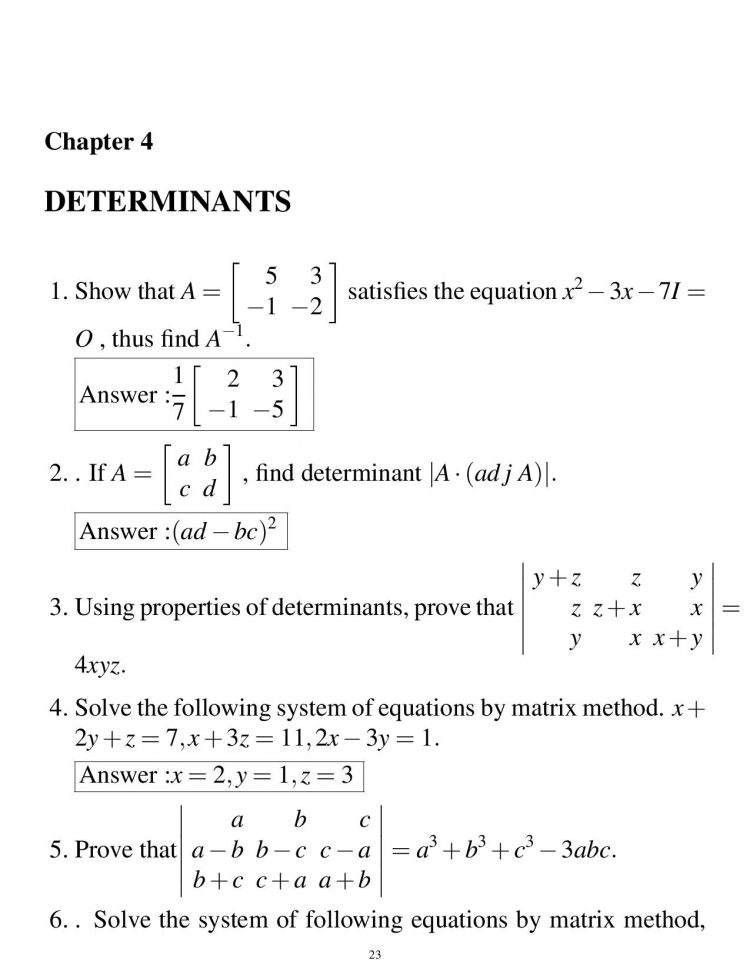 important questions of math for class 12